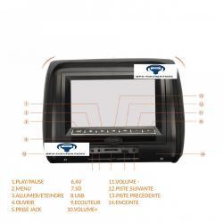 2 APPUIE DE TÊTE ÉCRAN LCD