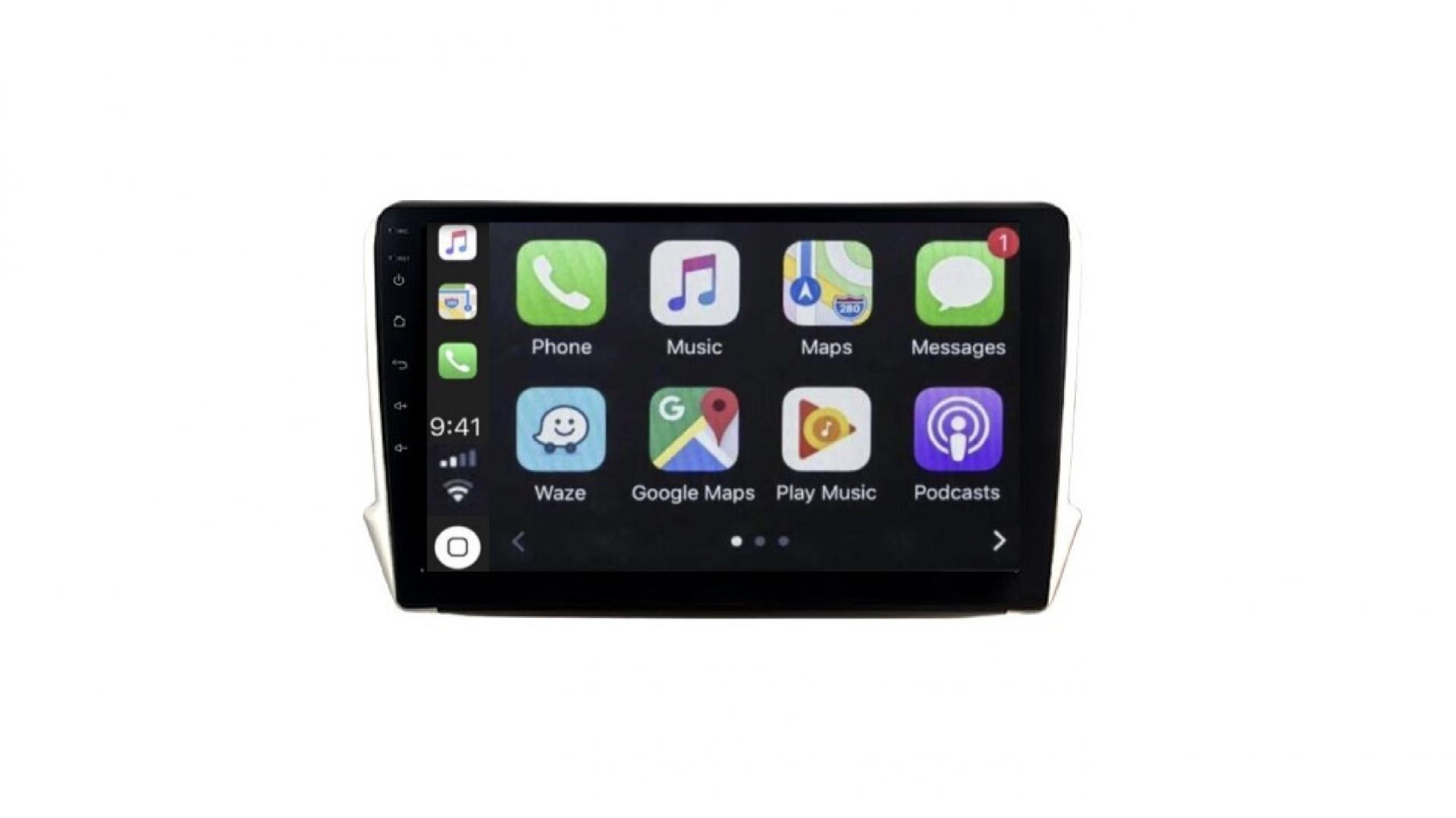 208 2008 autoradio gps bluetooth android auto carplay camera de recul commande au volant2