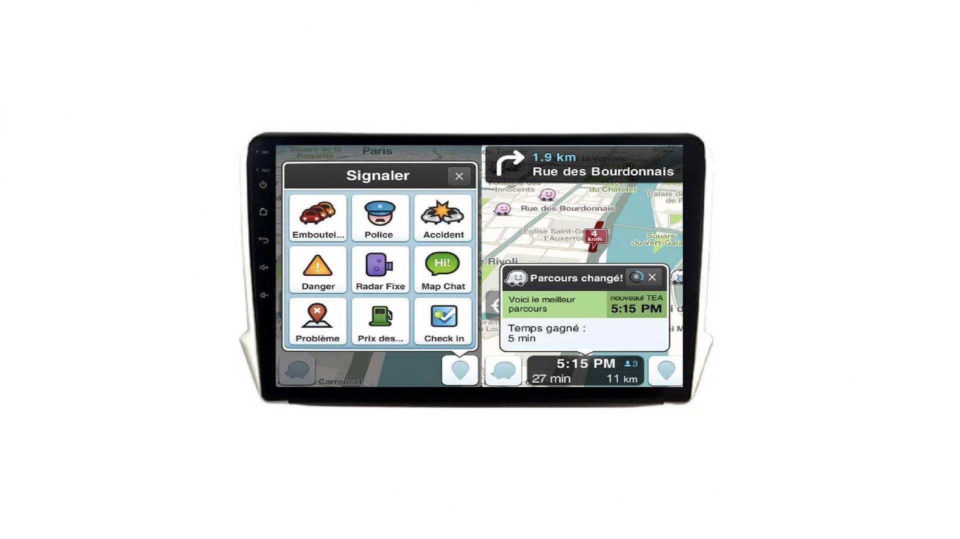 208 2008 autoradio gps bluetooth android auto carplay camera de recul commande au volant3
