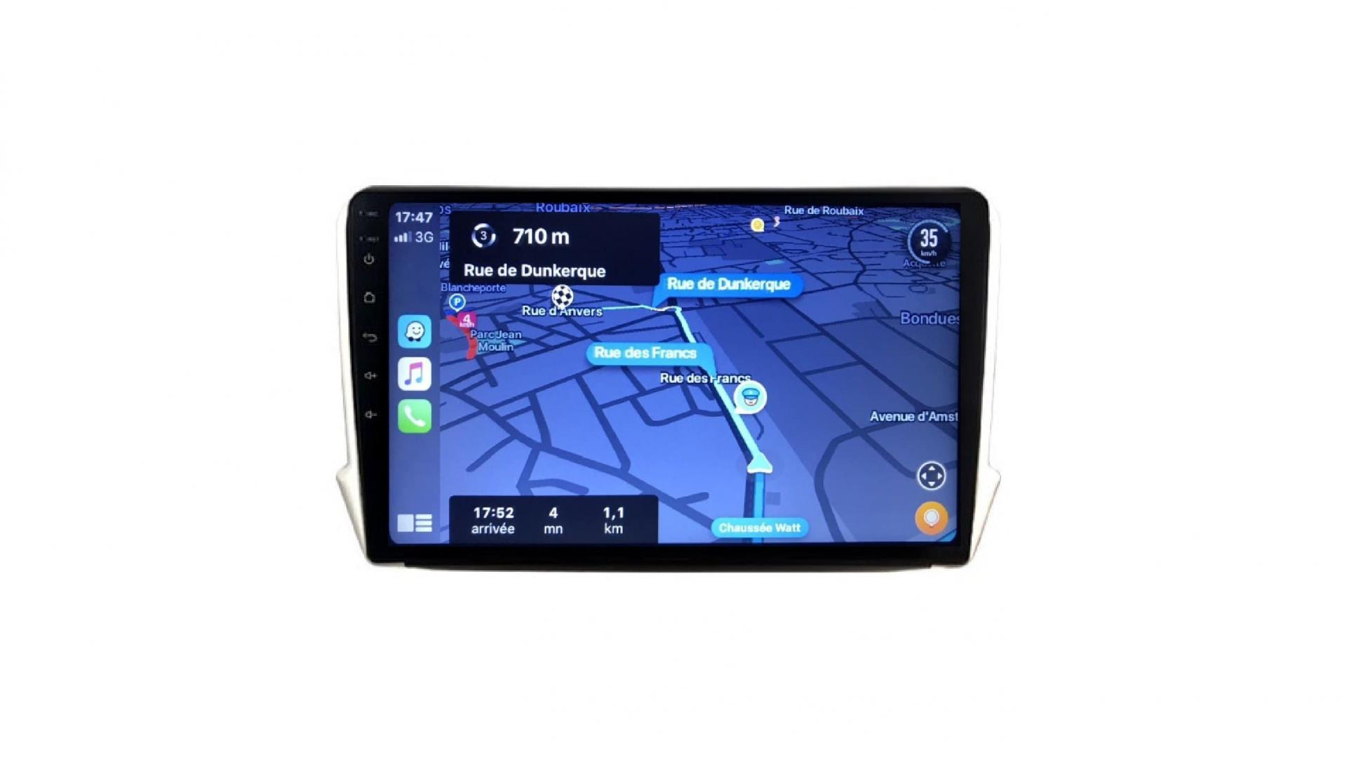 208 2008 autoradio gps bluetooth android auto carplay camera de recul commande au volant4