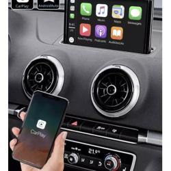 BOîTIER APPLE CARPLAY & ANDROID AUTO SANS FIL POUR AUDI A3 de 05/2012 à 2020