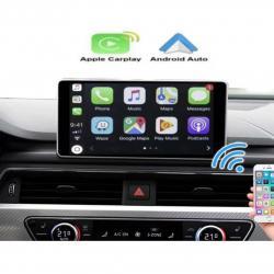 BOîTIER APPLE CARPLAY & ANDROID AUTO SANS FIL POUR AUDI A8 de 2006 à 2018