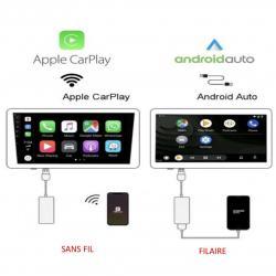 Boîtier CARPLAY & ANDROID AUTO sans fil pour autoradio sous Android