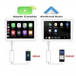 Boîtier CARPLAY & ANDROID AUTO filaire pour autoradio sous Android