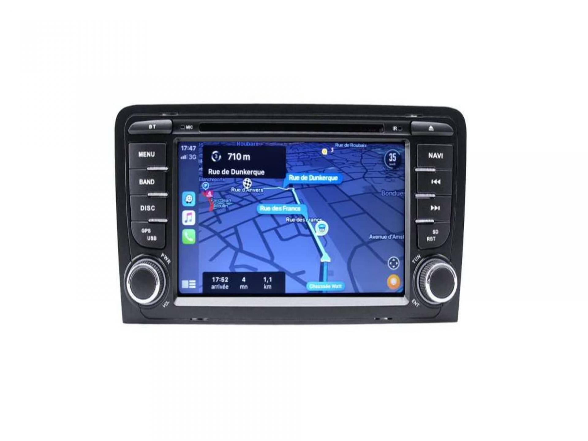 Audi a3 8p s3 rs3 sportback autoradio gps carplay android auto gps bluetooth 1