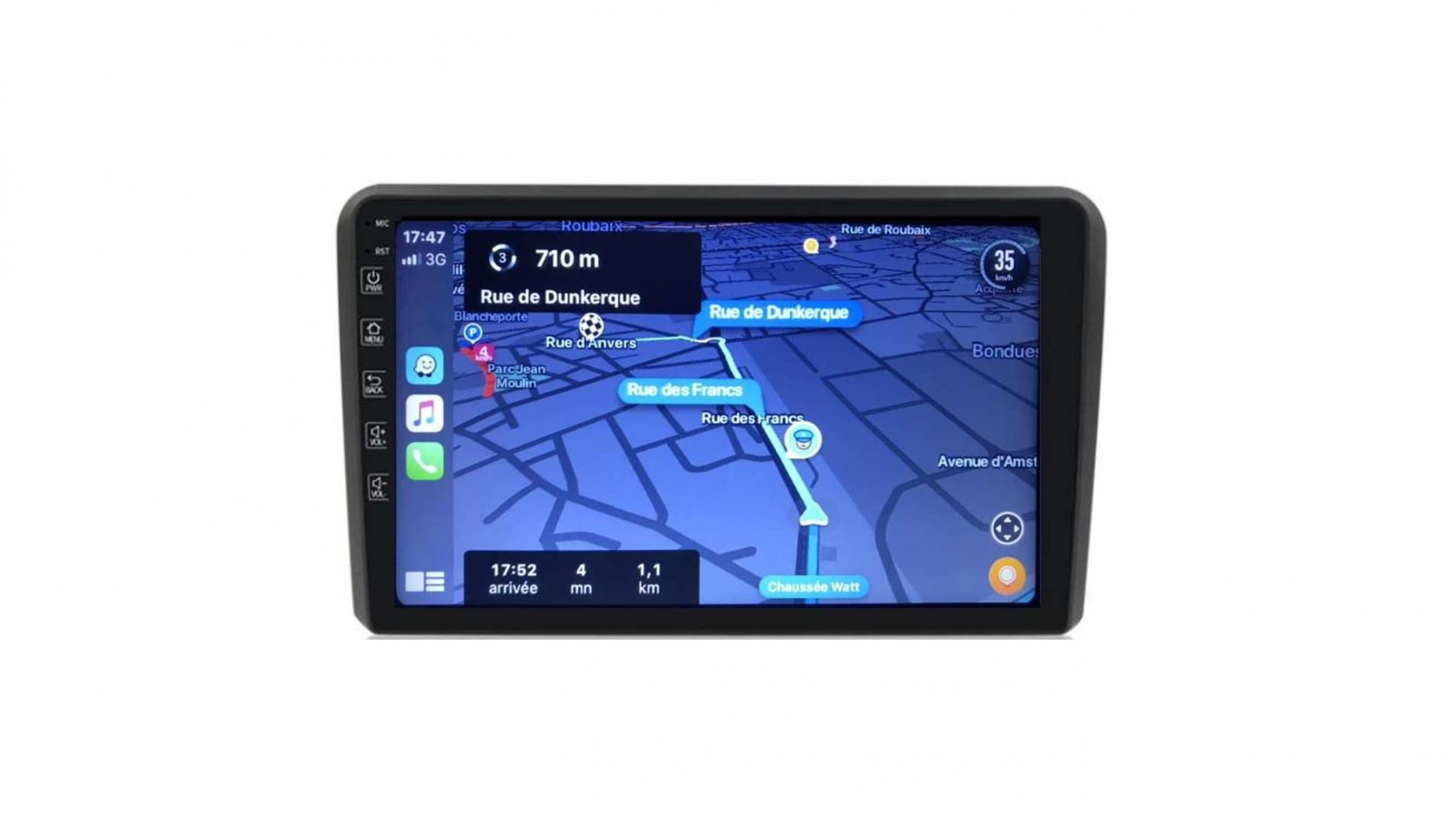 Audi a3 8p s3 rs3 sportback autoradio gps carplay android auto gps bluetooth 3