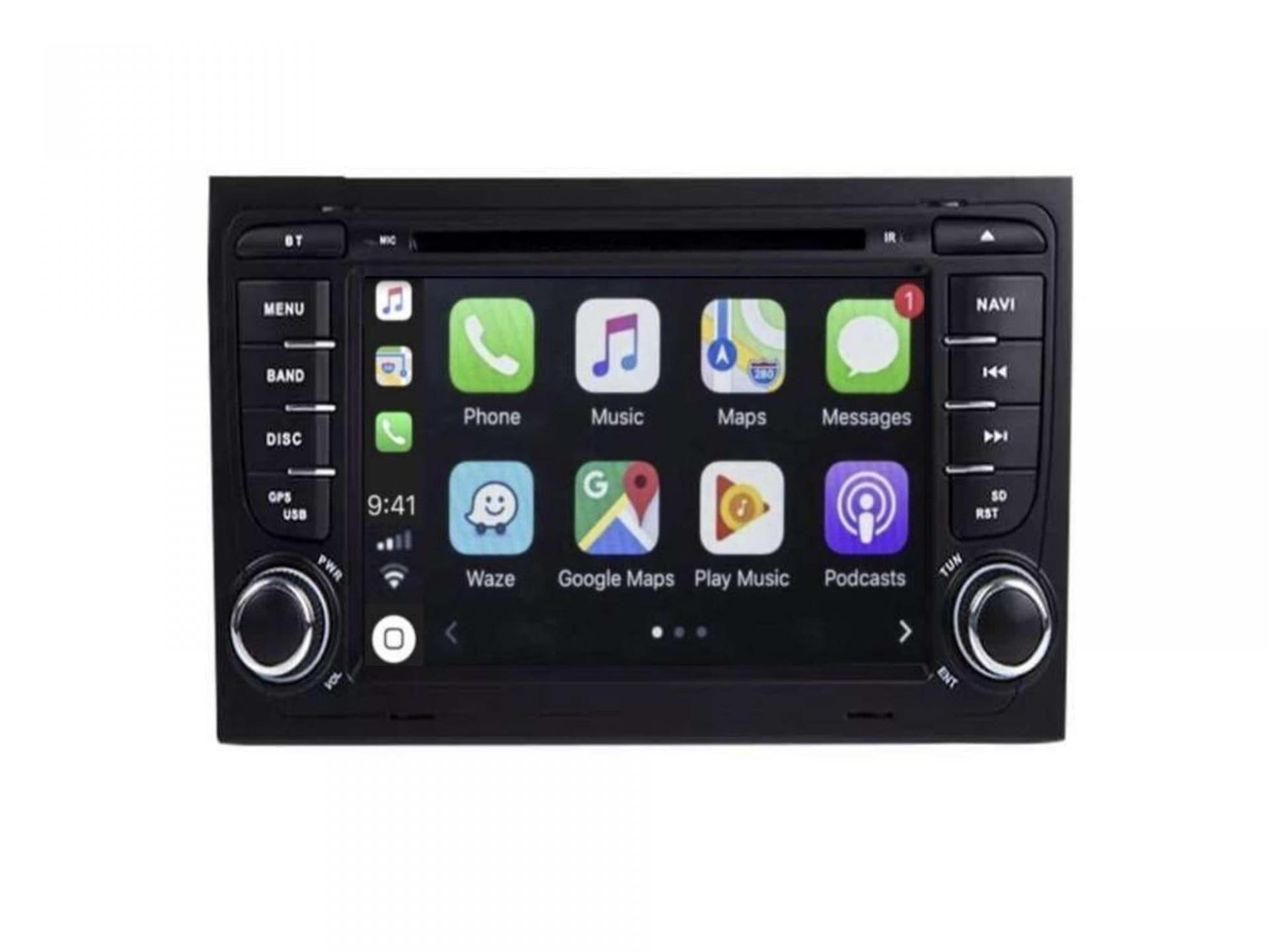 Audi a4 a6 a8 autoradio gps carplay android auto bluetooth 1