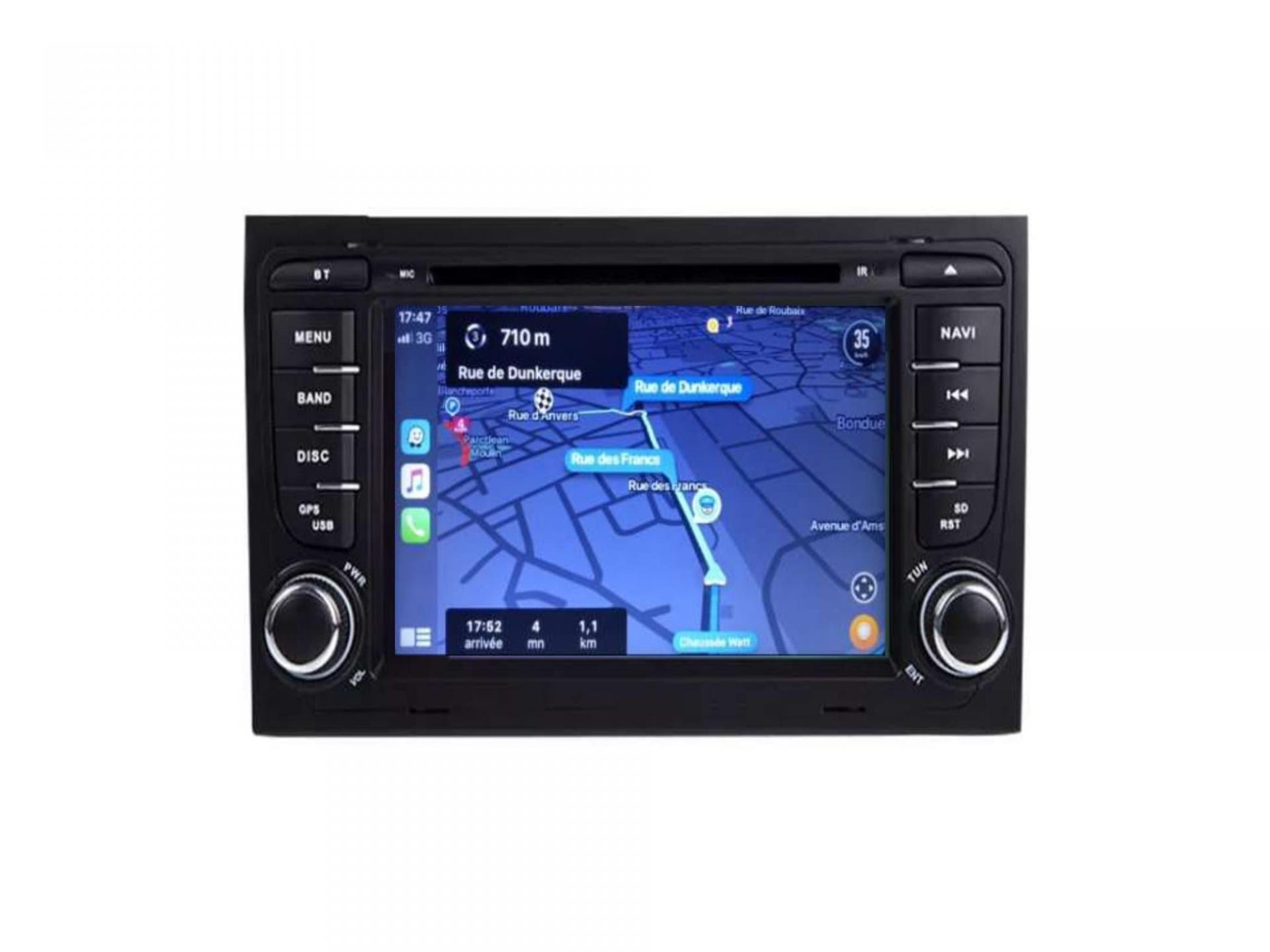 Audi a4 a6 a8 autoradio gps carplay android auto bluetooth 3