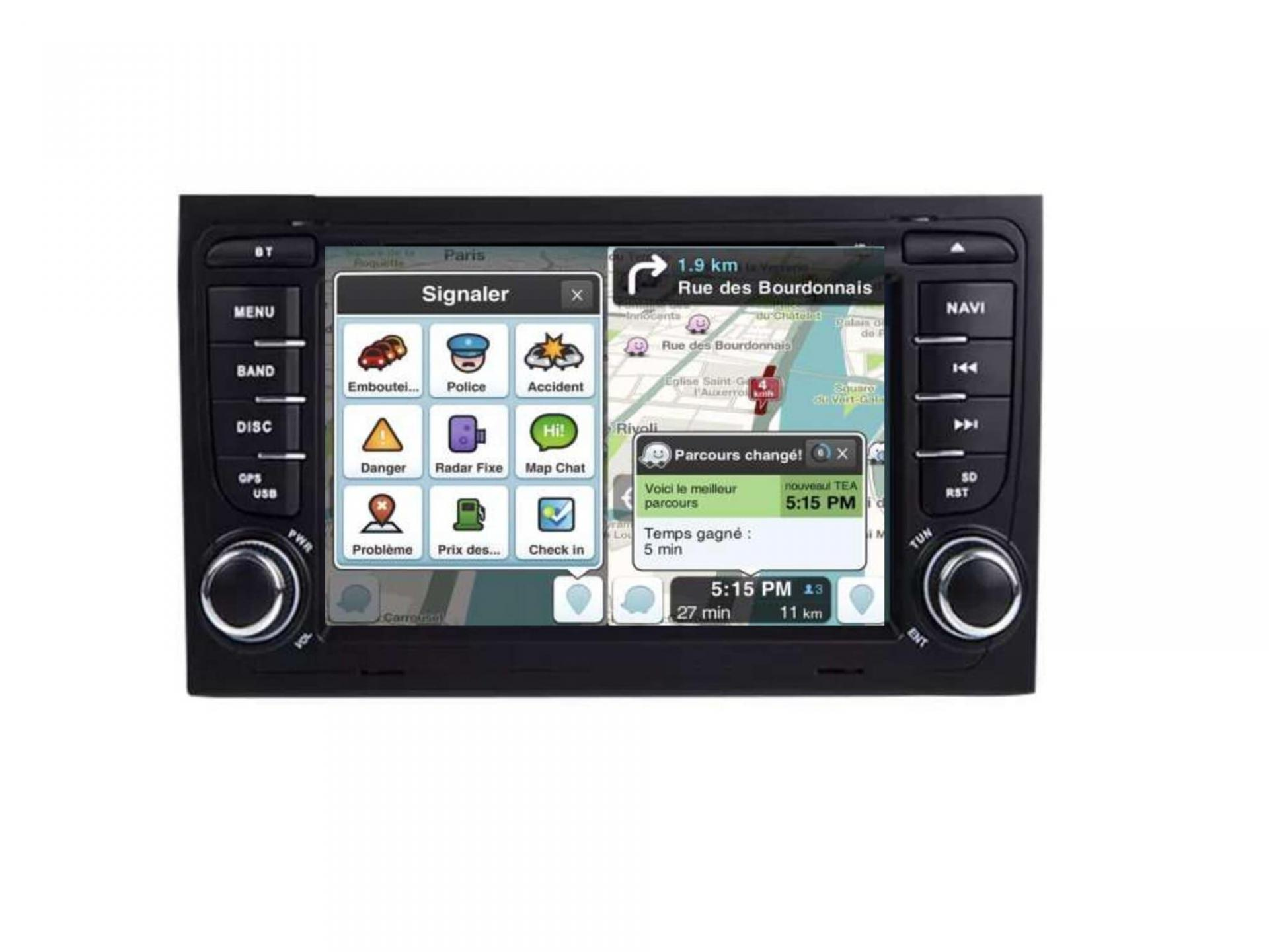 Audi a4 a6 a8 autoradio gps carplay android auto bluetooth 4
