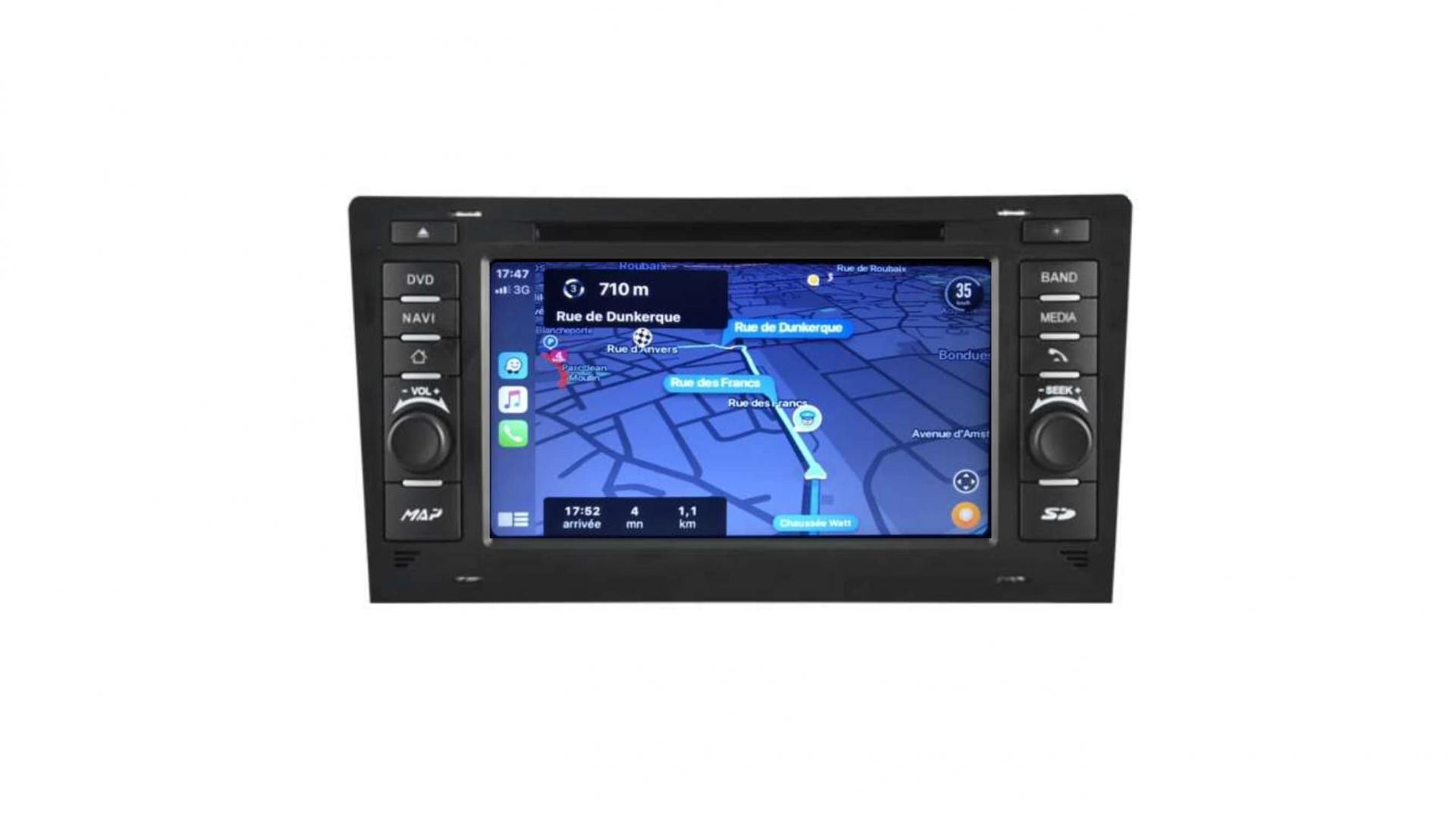 Audi a8 s8 autoradio gps bluetooth android auto carplay camera de recul commande au volant4