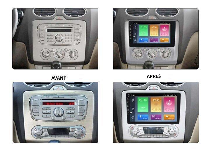 Autoradio android gps bluetooth ford focus de 2004 a 2010 camera de recul 1