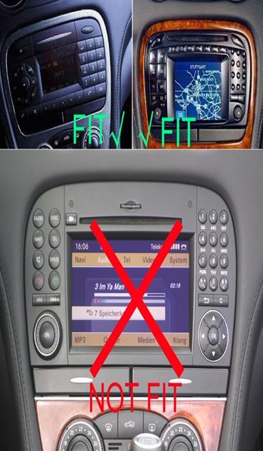Autoradio android gps bluetooth mercedes sl 2001 2004 camera de recul