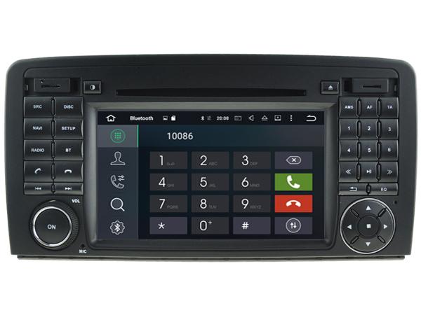 Autoradio bluetooth android mercedes classe r w251 r280 r300 r350 r63 camera de recul commande au volant ipod tv dvbt 3g 4g pas cher wifi poste usb sd tnt 2 double din tactile canb
