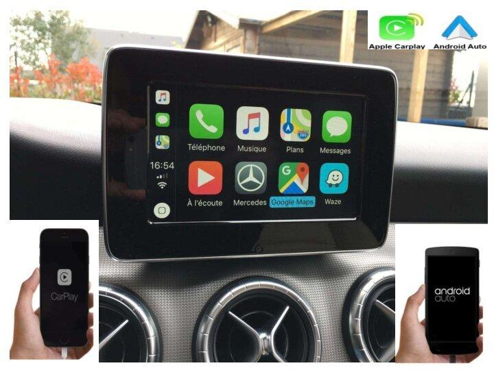 Autoradio carplay android auto gps bluetooth android mercedes classe a clas cls camera de recul commande au volant ipod tv dvbt 3g 4g pas cher wifi poste usb sd tnt 2 din tactile c