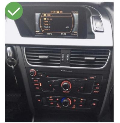 Autoradio gps bluetooth android audi a4 a5 a3 8p s3 rs3 camera de recul commande au volant carplay android auto pas cher wifi poste usb double 2 din tactile canbus mirror link www