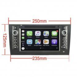 Autoradio tactile GPS Bluetooth Android Audi A6 S6 RS6 Allroad de 2001 à 2005 + camera de recul