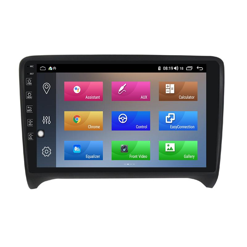 Autoradio gps bluetooth android audi tt camera de recul commande au volant ipod tv dvbt 3g 4g pas cher wifi poste usb sd tnt 2 din tactile canbus mirror link iphone samsung www gps