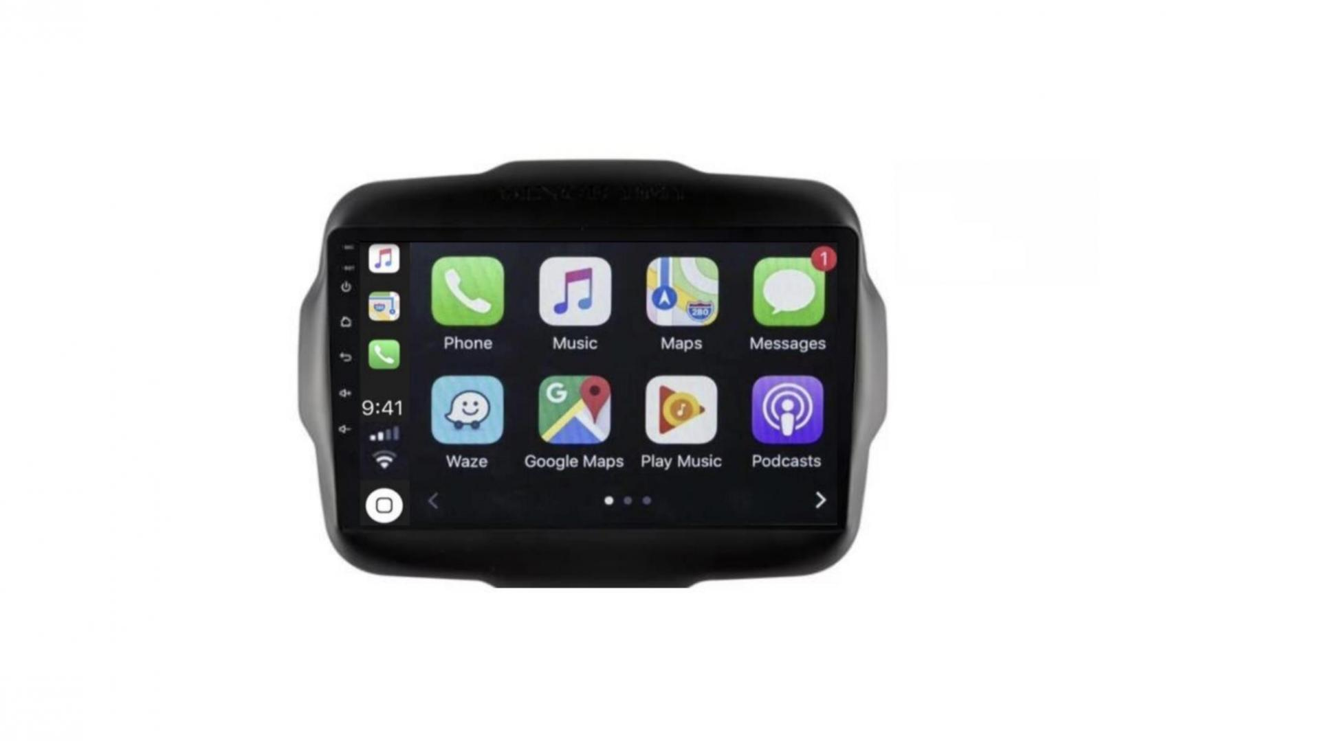 Autoradio gps bluetooth android auto carplay camera de recul jeep renegade grand cherokee commander liberty patriot wrangler