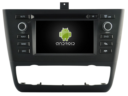 Autoradio gps bluetooth android bmw e81 e82 e87 e88 camera de recul commande au volant ipod tv dvbt 3g 4g pas cher wifi poste usb sd tnt double 2 din tactile canbus mirror link iph