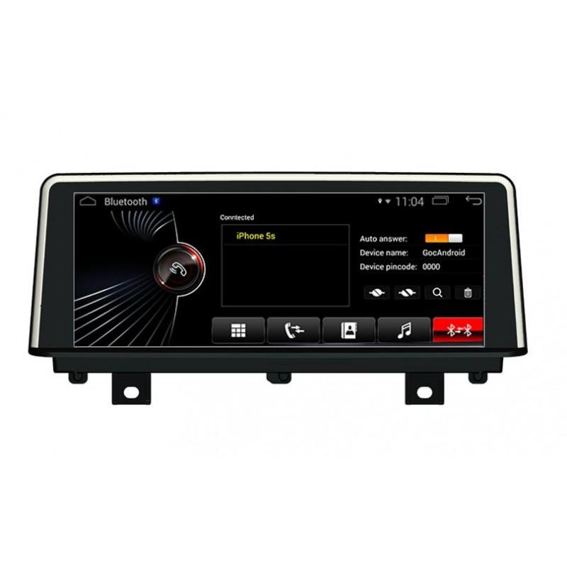 Autoradio gps bluetooth android bmw serie 3 f30 f31 f34 f35 f80 serie 4 f32 f33 f36 f84 camera de recul commande au volant ipod tv dvbt 3g 4g pas cher wifi double poste usb sd tnt