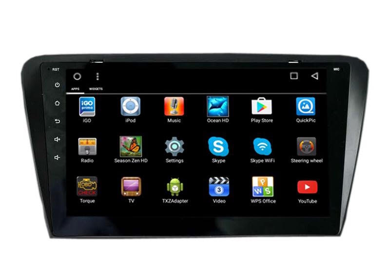 Autoradio gps bluetooth android camera de recul commande au volant ipod tv dvbt 3g 4g pas cher wifi poste usb sd tnt double 2 din canbus iphone samsung www gps navigation fr skoda