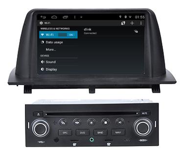 Autoradio gps bluetooth android citroen aircross camera de recul commande au volant ipod tv dvbt 3g 4g pas cher wifi poste usb sd tnt double 2 din tactile canbus mirror link iphone