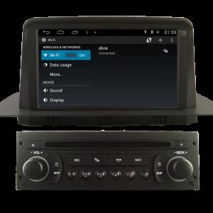 Autoradio gps bluetooth android citroen c3 2013 2014 2015 camera de recul commande au volant ipod tv dvbt 3g 4g pas cher wifi poste usb sd tnt 2 din tactile canbus mirror link ipho
