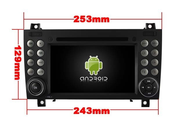 Autoradio gps bluetooth android mercedes slk r170 r171 camera de recul commande au volant ipod tv dvbt 3g 4g pas cher wifi poste usb sd tnt double 2 din tactile canbus mirror link