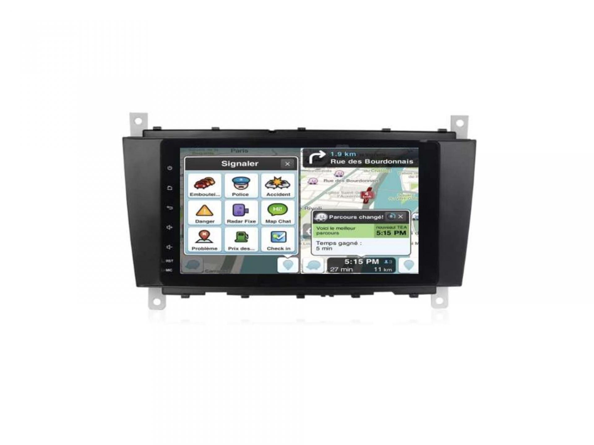 Autoradio gps bluetooth carplay android auto mercedes classe c w203 phase 1 classe g clk vito viano 1