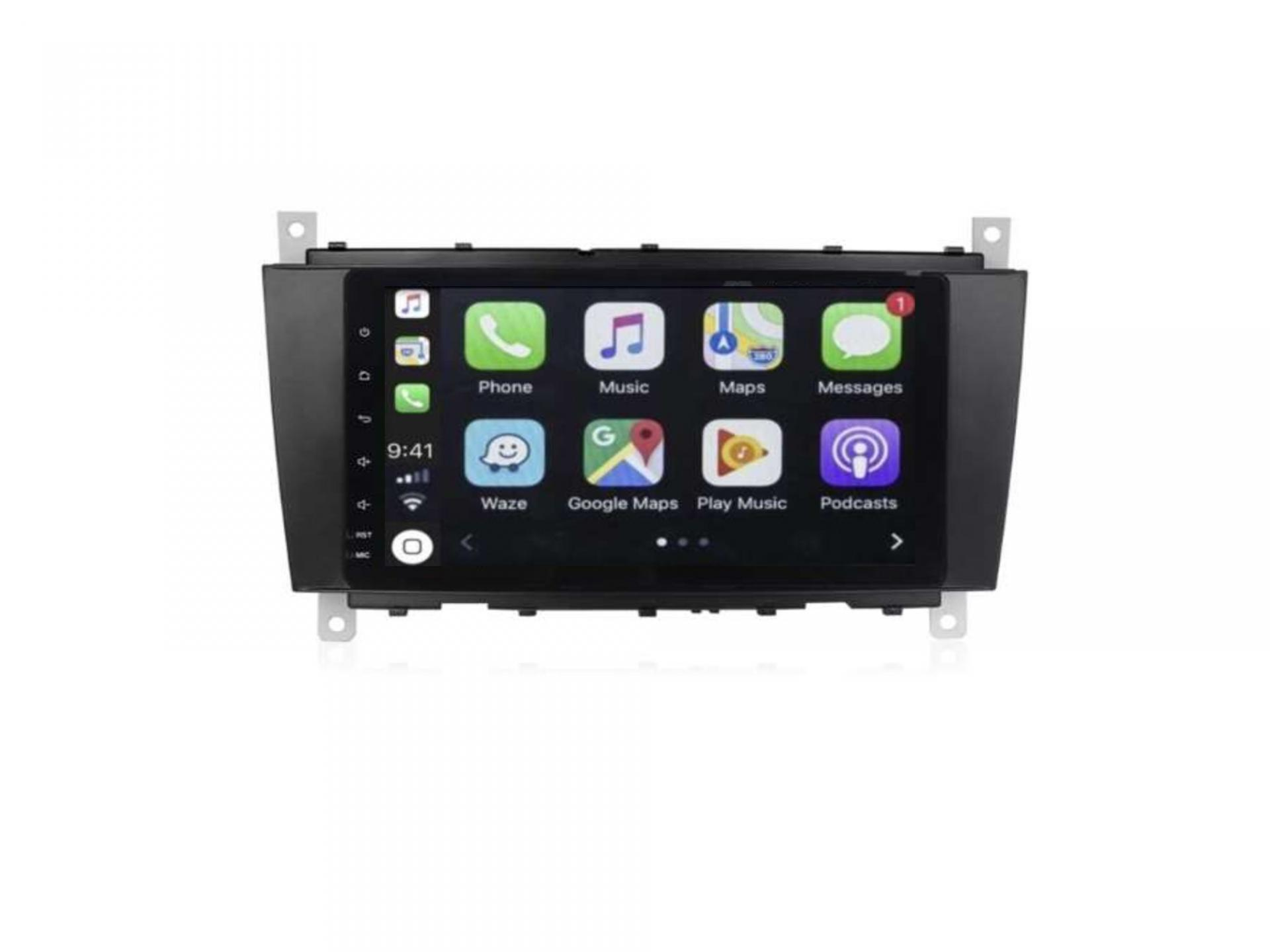 Autoradio gps bluetooth carplay android auto mercedes classe c w203 phase 1 classe g clk vito viano 2