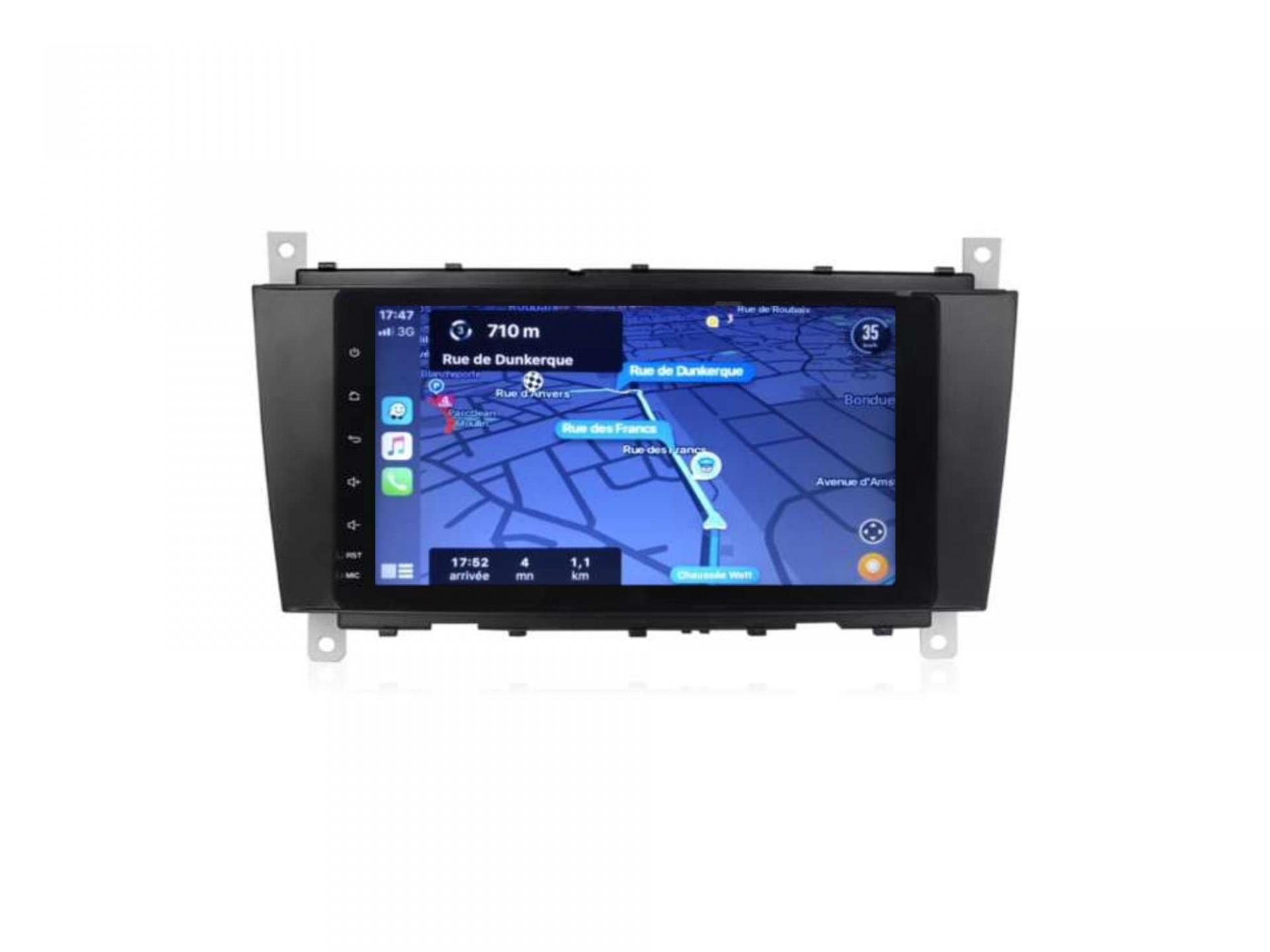 Autoradio gps bluetooth carplay android auto mercedes classe c w203 phase 1 classe g clk vito viano 4