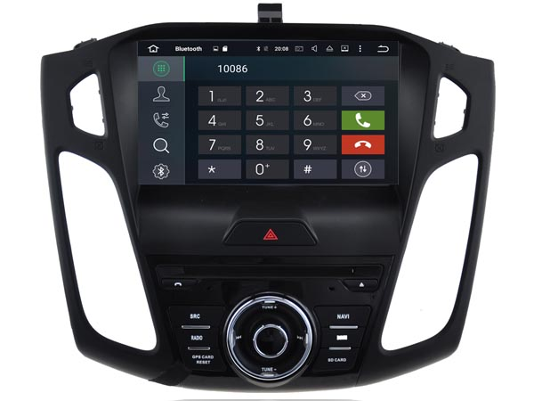 Autoradio gps bluetooth ford focus 2015 android camera de recul commande au volant ipod tv dvbt 3g 4g pas cher wifi poste usb sd tnt double 2 din canbus iphone samsung www gps navi