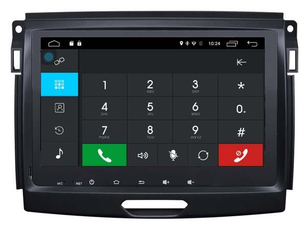 Autoradio gps bluetooth ford ranger 2016 android camera de recul commande au volant ipod tv dvbt 3g 4g pas cher wifi poste usb sd tnt double 2 din canbus iphone samsung www gps nav