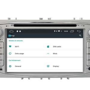 Autoradio gps bluetooth ford s max galaxy mondeo focus android camera de recul commande au volant ipod tv dvbt 3g 4g pas cher wifi poste usb sd tnt double 2 din canbus iphone samsu