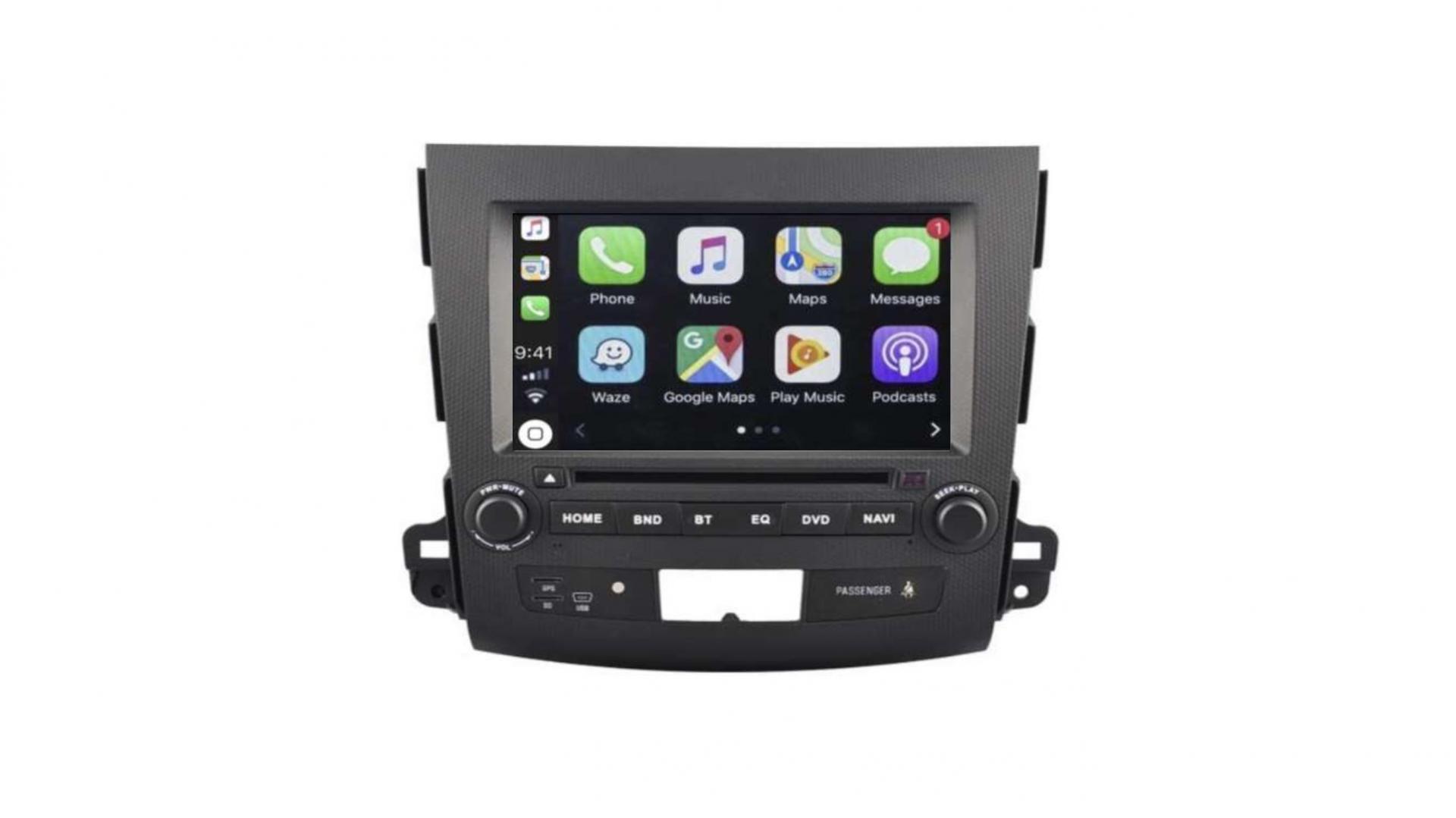 Autoradio gps bluetooth mitsubishi outlander asx android auto carplay camera de recul commande au volant1