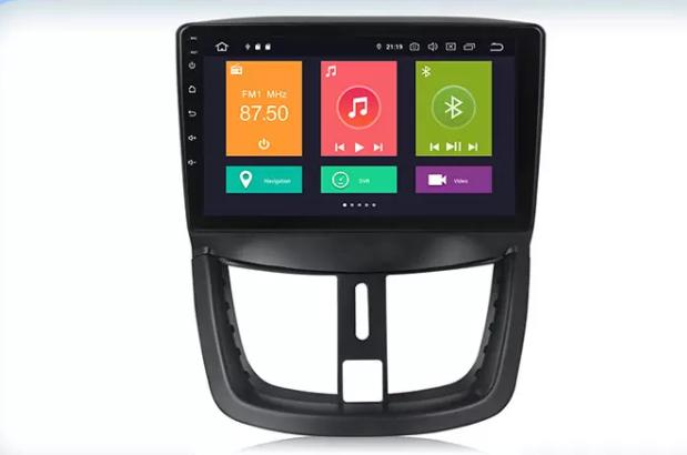 Autoradio gps bluetooth peugeot 206 207 207 cc sw android camera de recul commande au volant ipod tv dvbt 3g 4g pas cher wifi poste usb sd tnt double 2 din canbus iphone samsung ip