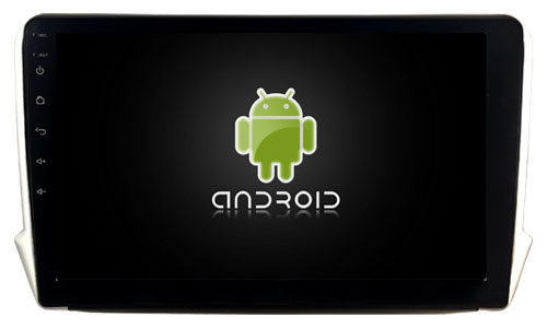Autoradio gps bluetooth peugeot 208 2008 android camera de recul commande au volant ipod tv dvbt 3g 4g pas cher wifi poste usb sd tnt double 2 din canbus iphone samsung www gps nav