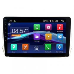 Autoradio Android full tactile GPS Bluetooth Peugeot 208 et Peugeot 2008 de 2012 à 2019 + caméra de recul