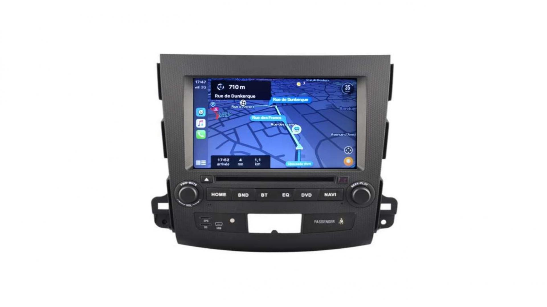 Autoradio gps bluetooth peugeot 4007 android auto carplay camera de recul commande au volant3