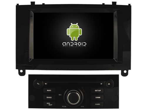 Autoradio gps bluetooth peugeot 407 android camera de recul commande au volant ipod tv dvbt 3g 4g pas cher wifi poste usb sd tnt double 2 din canbus iphone samsung www gps navigati
