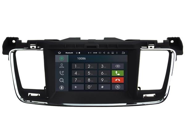 Autoradio gps bluetooth peugeot 508 android camera de recul commande au volant ipod tv dvbt 3g 4g pas cher wifi poste usb sd tnt double 2 din canbus iphone samsung www gps navigati