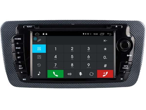 Autoradio gps bluetooth seat ibiza android camera de recul commande au volant ipod tv dvbt 3g 4g pas cher wifi poste usb sd tnt double 2 din canbus iphone samsung www gps navigatio