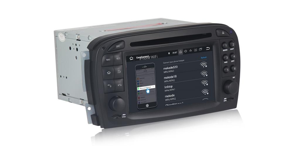 Autoradio gps bluetooth sl r230 sl500 android bmw camera de recul commande au volant ipod tv 3g 4g pas cher wifi poste usb sd tnt double 2 din tactile canbus mirror link samsung ip
