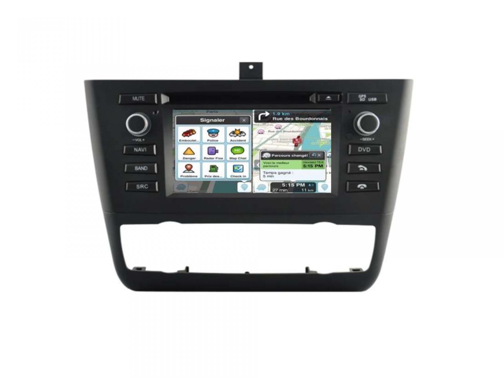 Autoradio gps carplay android auto bluetooth bmw serie 1 e81 e82 e87 e88