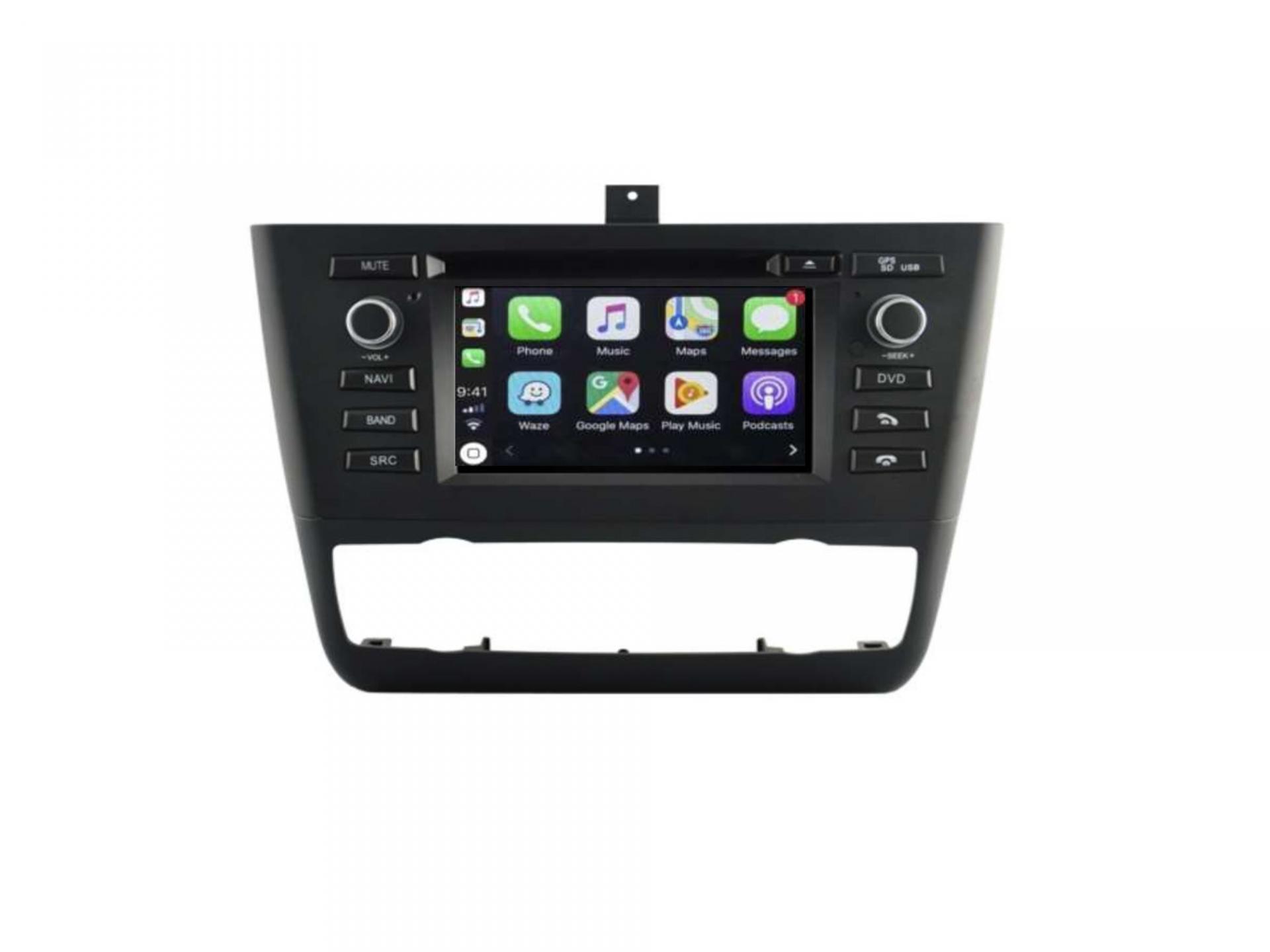 Autoradio gps carplay android auto bluetooth bmw serie 1 e81 e82 e87 e88 2