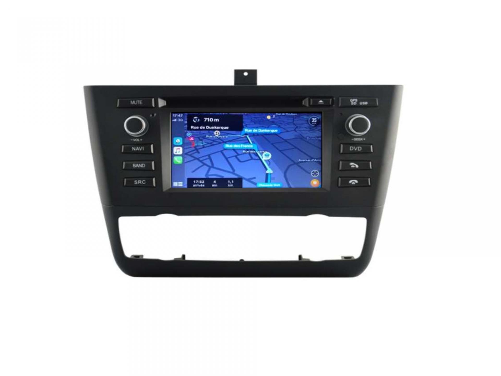 Autoradio gps carplay android auto bluetooth bmw serie 1 e81 e82 e87 e88 3