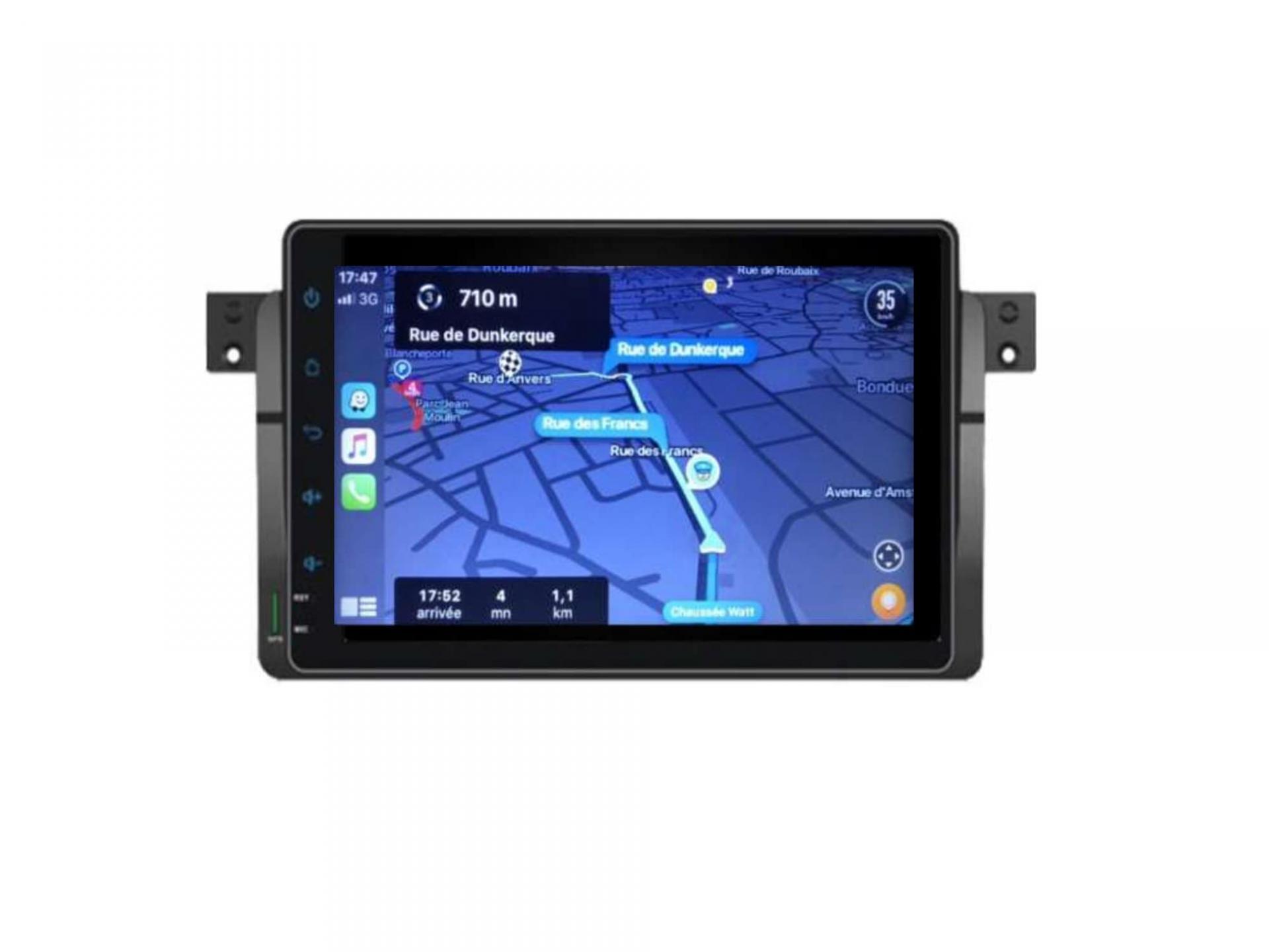 Autoradio gps carplay android auto bluetooth bmw serie 3 e46 harman kardon 1