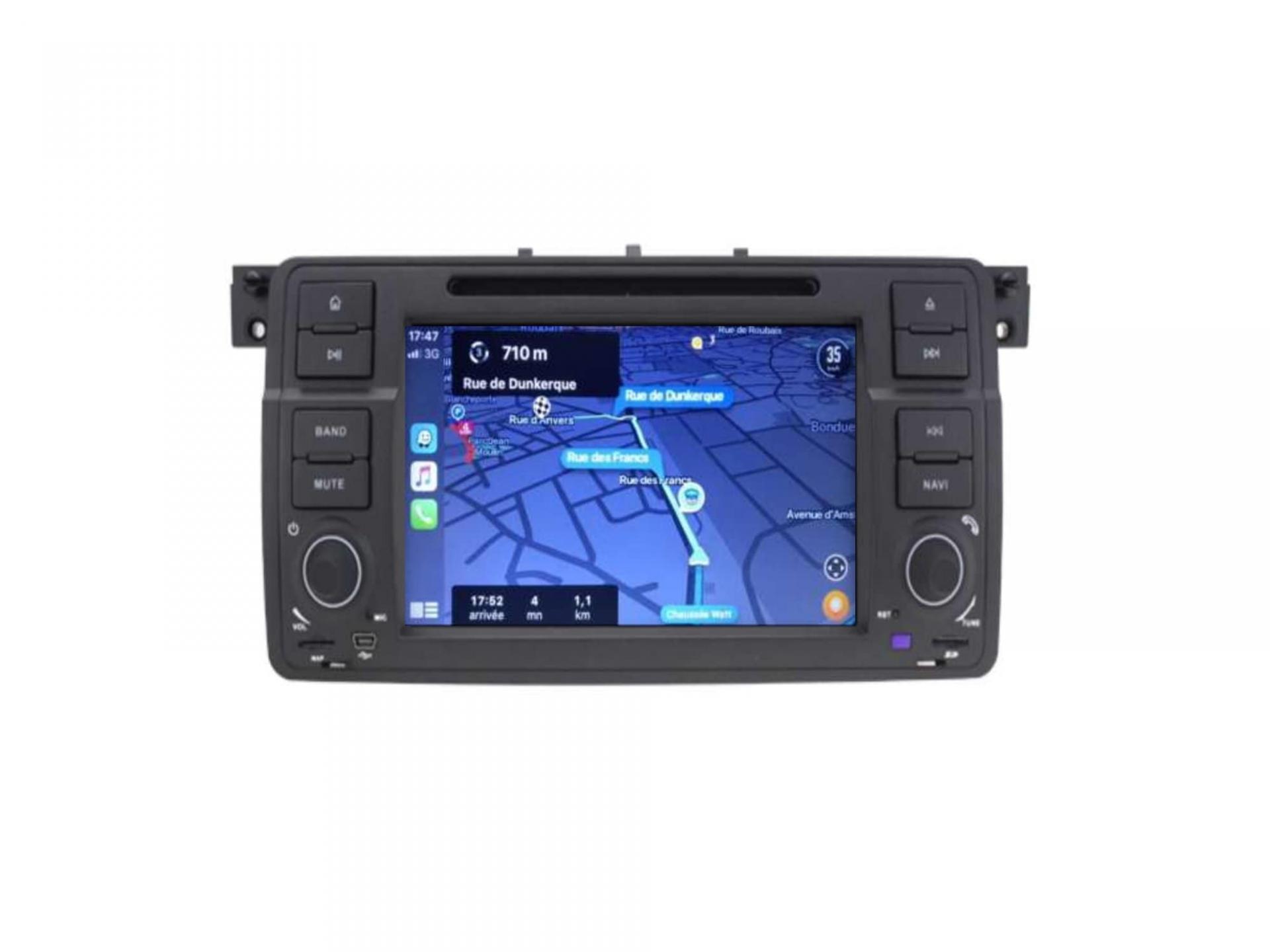 Autoradio gps carplay android auto bluetooth bmw serie 3 e46 harman kardon 3