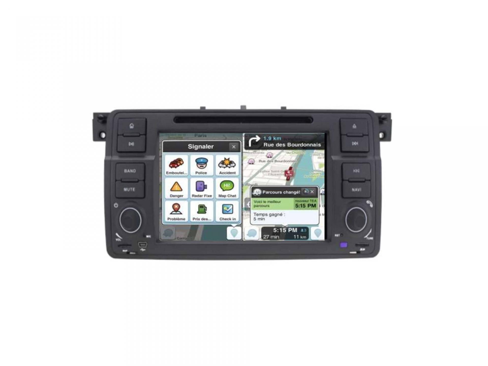 Autoradio gps carplay android auto bluetooth bmw serie 3 e46 harman kardon 4