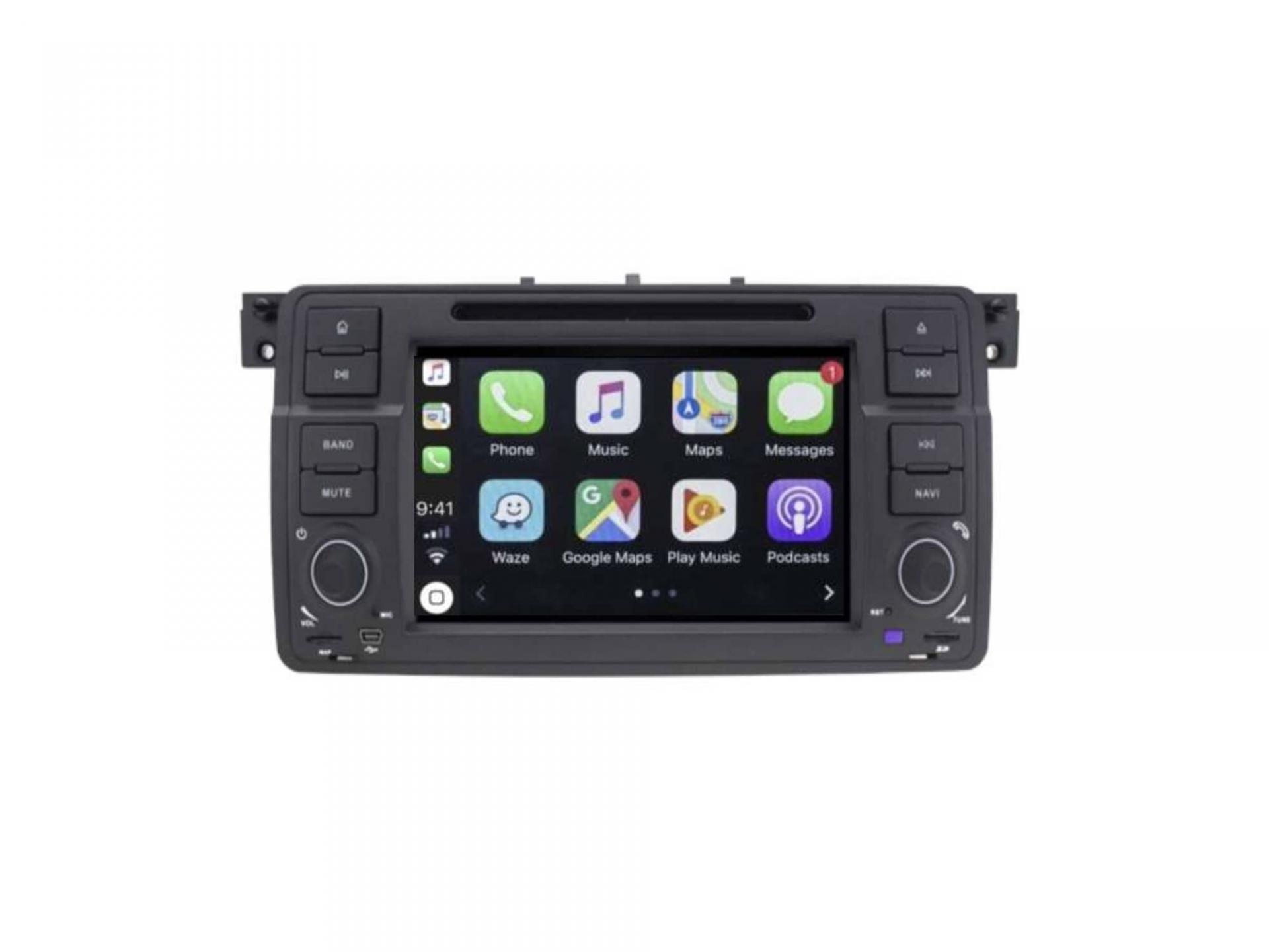 Autoradio gps carplay android auto bluetooth bmw serie 3 e46 harman kardon 5